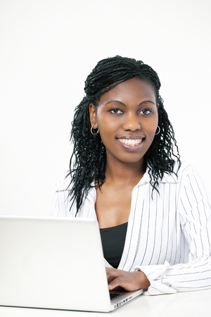 Elegant black female executive or bank manager