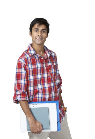 Cute college guy with carefree expression Stock Photo