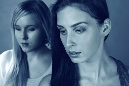 Two sad women feeling low and depressed Stock Photo - 11803652