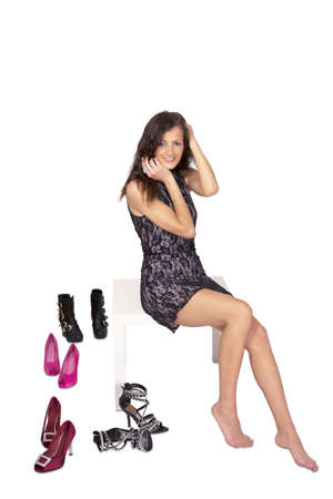 Lovely girl with pretty shoes photo