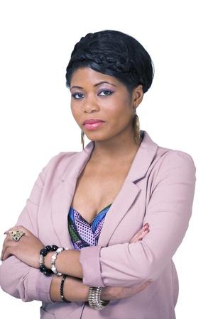 Elegant african businesswoman Stock Photo - 11936890