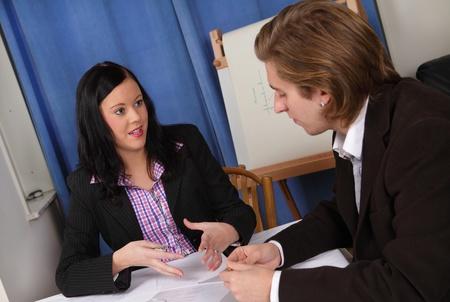 Businesswoman making presentation Stock Photo - 12082779