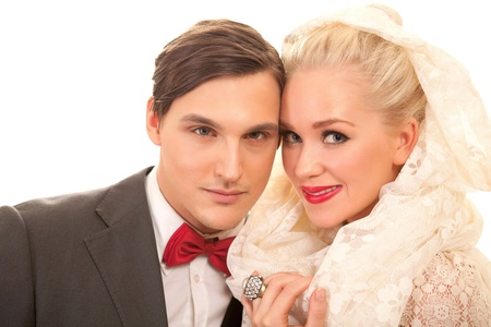 Attractive couple in fine elegant clothes Stock Photo - 12376959