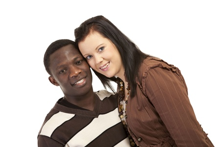 Happy mixed race couple love and friendship Stock Photo - 12622209