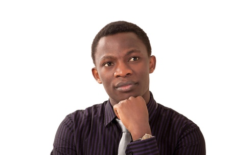 Worried black man with depressed look  Stock Photo - 12622305