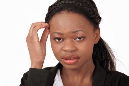 Sick and tired black female Stock Photo - 12622392