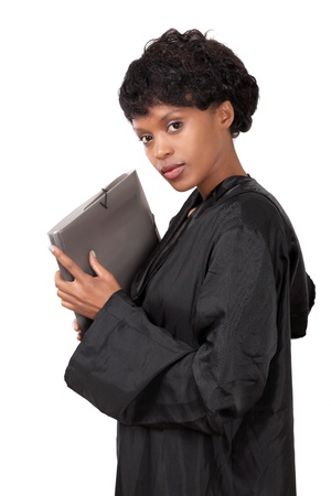 Female attorney a graceful young lady photo