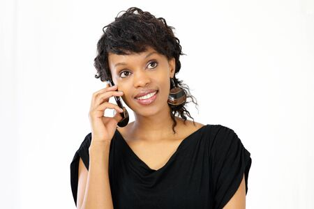 Young professional woman talking on smart phone Stock Photo - 12622465