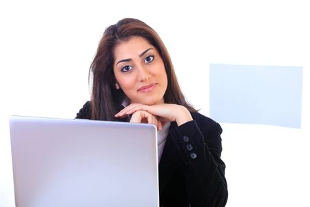 Cute friendly receptionist looking at you Stock Photo - 12622541