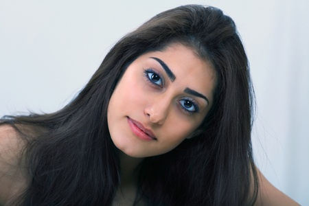 Beautiful sensual woman a natural face portrait