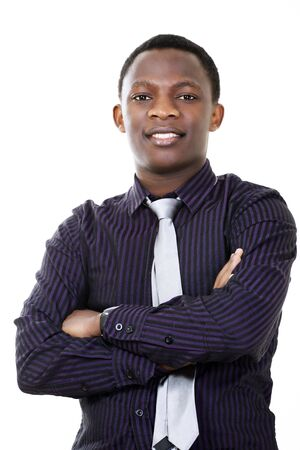 Young dynamic businessman of african descent photo