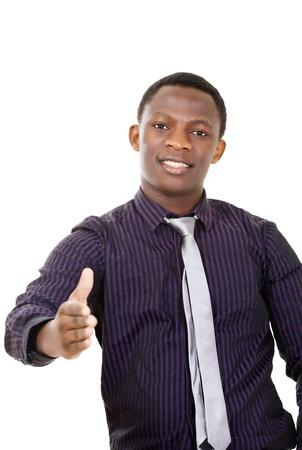 lazo negro: Apret�n de manos - apuesto hombre de ascendencia africana