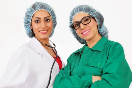 Smiling confident medical team Stock Photo - 12908419