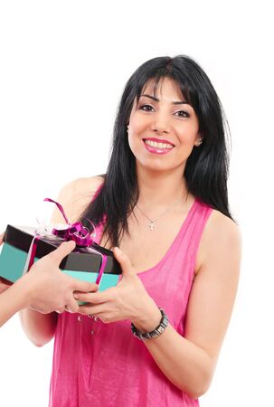 Mother s day gift a happy smiling mom Stock Photo - 12908529