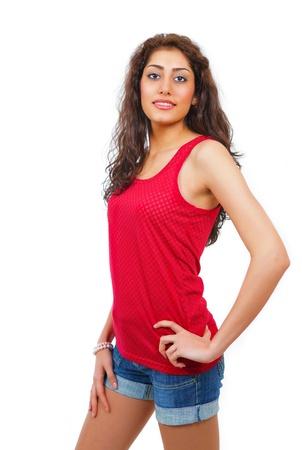 Cute trendy hispanic young woman photo