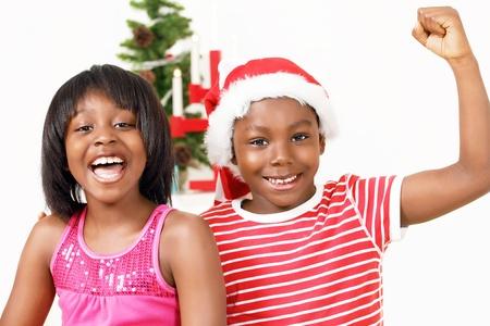 ni�os latinos: Los ni�os que animan en el esp�ritu de la Navidad
