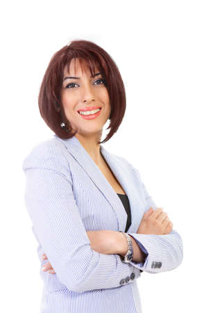 Confident businesswoman an elegant smiling female Stock Photo - 13558512