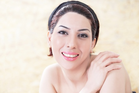 Lovely smiling woman relaxing in day spa Stock Photo - 13586910