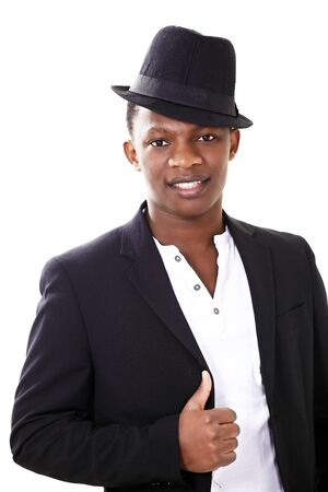 jaunty: Retrato de un hombre africano en un sombrero