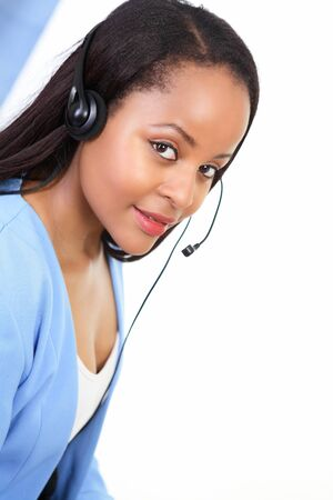 Receptionist at work, at your service Stock Photo - 13787251