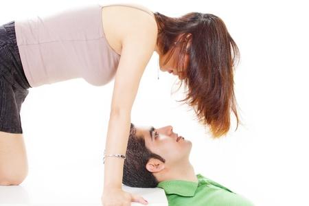 Couple seduction and romance Stock Photo - 14283327