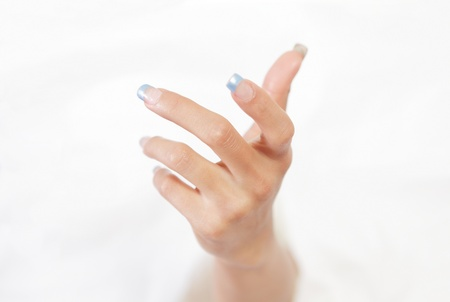 Human hand rising or reaching out Stock Photo - 14431324