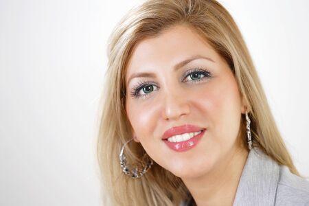 Elegant businesswoman smiling face closeup Stock Photo - 14528941