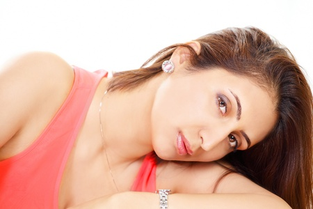 Lonely young woman looking at you Stock Photo - 14588177