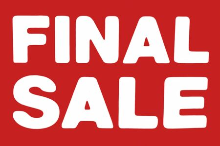 final: Final Sale sign in red and white colors