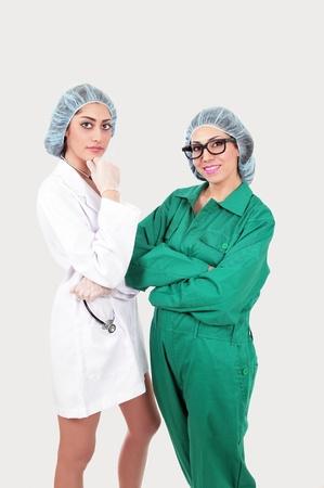 Hospital staff in conversation photo
