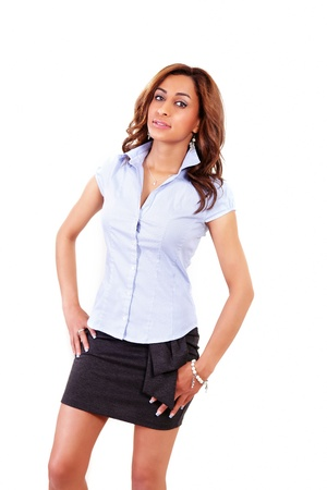 sincere girl: Pretty office girl with confident look Stock Photo