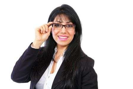 Confident smiling businesswoman photo