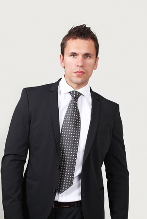 Serious young businessman photo