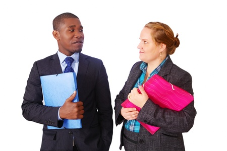 Mixed race business people in conversation Stock Photo - 15921136