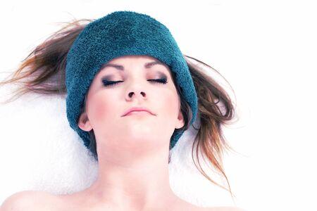 Pretty female relaxing in luxury spa Stock Photo - 16241981