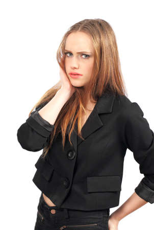 rebellious: Stressed teenage girl Stock Photo