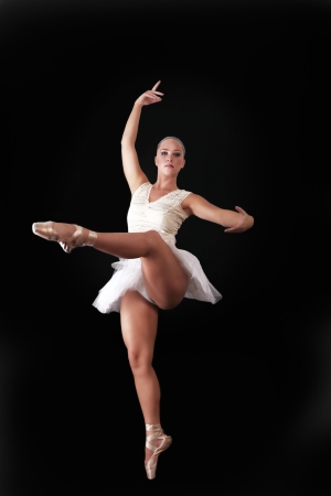 Ballet dancing, beautiful ballerina photo