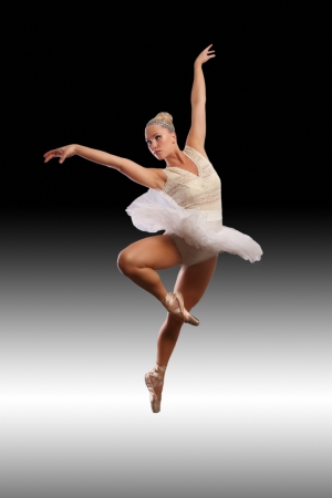 Ballet art, beauty and grace dancing ballerina photo