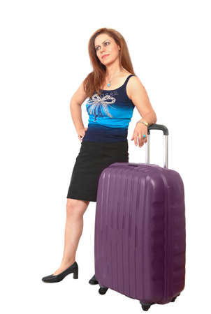missed: Woman with suitcase stuck in travel or flight delay