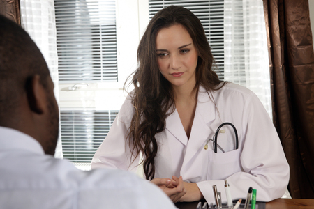 24 hour: 24 hour medical service, doctor with patient