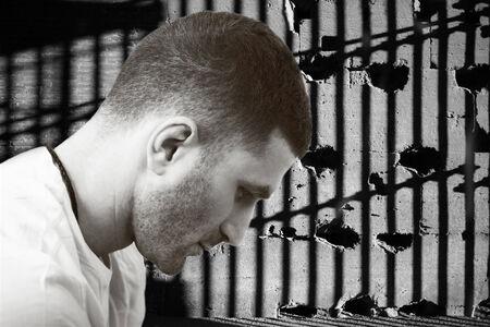 man in jail: Inmate or man in jail