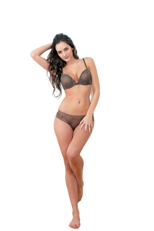 Model in lingerie or underwear, a full body portrait photo