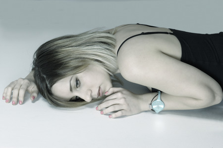 misery: Woman depression and loneliness portrait Stock Photo