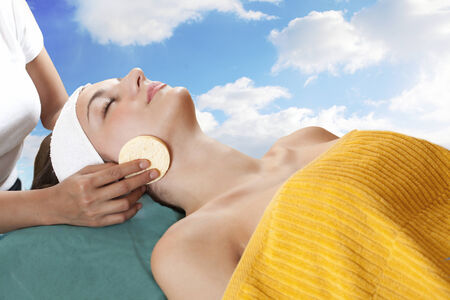 Woman spa therapy and skin care photo