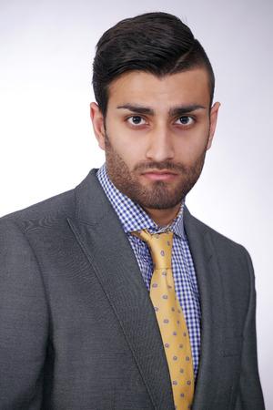 Asian businessman portrait in suit and tie photo
