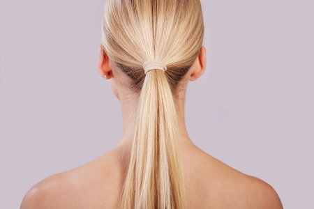 Perfect ponytail with long blonde hair