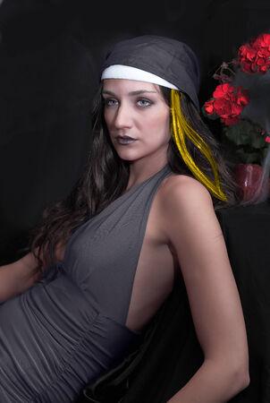 Dark nun or cult priestess