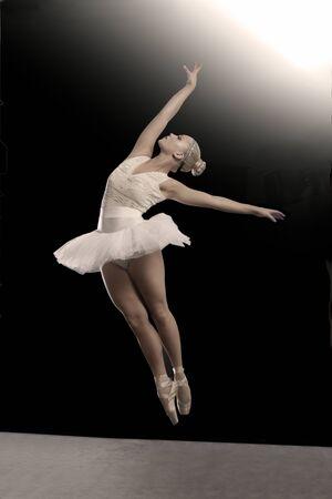 hairclip: Ballet dance portrait of a dancing woman