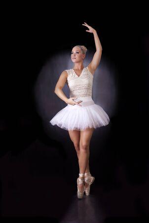 hairclip: Ballerina dancing on stage, vertical full length portrait