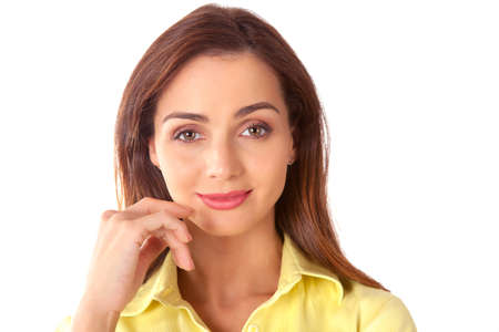 Attractive businesswoman with graceful smile Stock Photo